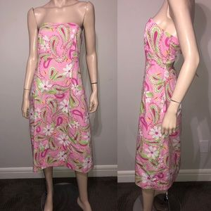 Lilly Pulitzer Strapless Dress 10